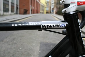 There's no excess steerer tube on McCallum's bike – the beauty of having one custom made