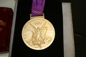 Ed Clancy's Gold from the London 2012 Team Pursuit was on show