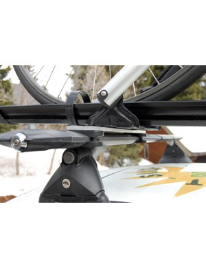 Adaptors are available for upright-type bicycle trays, too