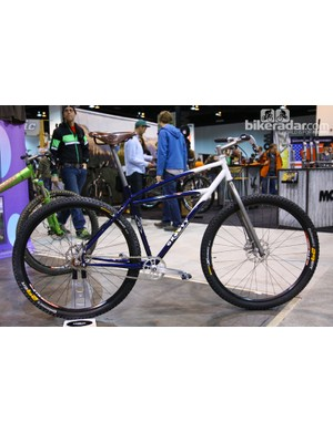 Among its impressive collection at NAHBS, Groovy Cycleworks had this classically inspired 29er hardtail