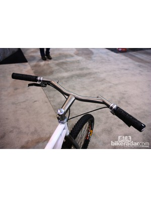 Bars with lots of sweep are becoming pretty popular these days, but Groovy Cycleworks has been doing them for years