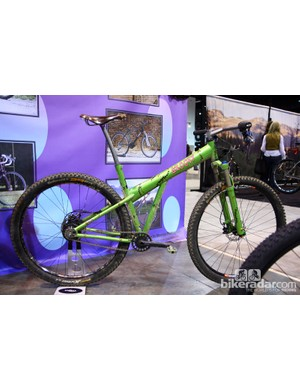 This Groovy Cycleworks 29er was inspired by Frankenstein. Note the scary tire clearance at the seat tube