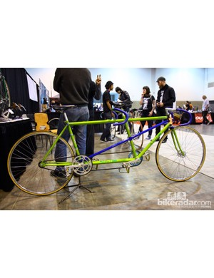 Brian Baylis brought this whimsical track tandem to this year's NAHBS