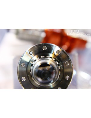 You can see right underneath the flange on this Gokiso hub
