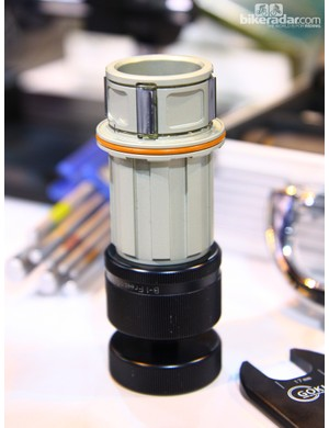 The aluminum freehub body and super-wide pawl on Gokiso's rear hub