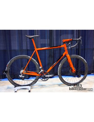 Caletti was among several builders to show off a disc-equipped road bike at NAHBS