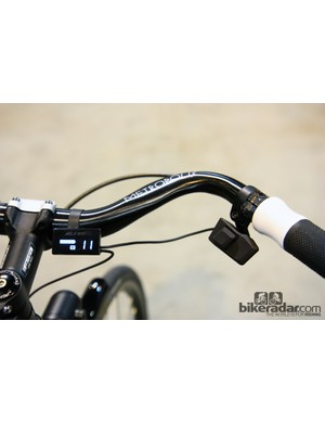 The tidy push-button controls and display unit on Shimano's new Alfine Di2 transmission