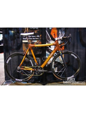 Calfee brought this stunning bamboo-tubed road racer to NAHBS