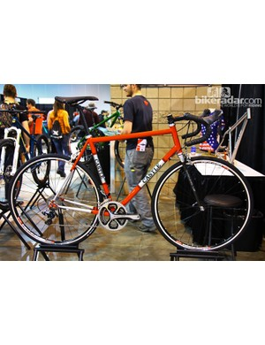 Castle Frameworks works out of Hailey, Idaho, and brought this beautiful steel road bike to NAHBS