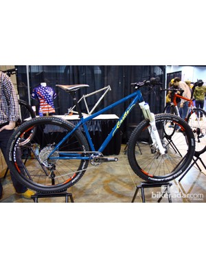 This Castle titanium hardtail could have been left bare but looks fantastic in this bold shade of blue