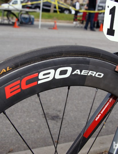 Easton once produced special carbon tubular rims for the BMC team that were drilled out for external nipples