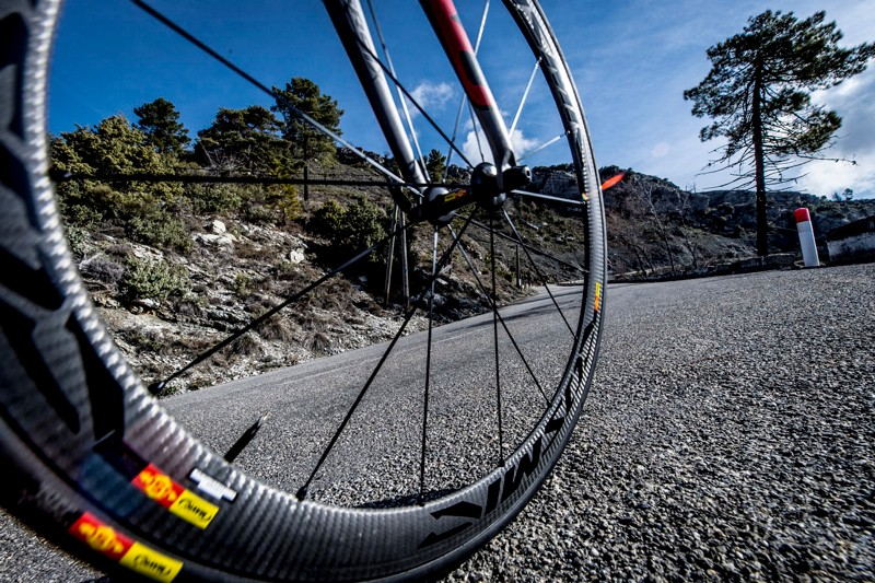 We tested the wheels on a mountainous 100km route in southern France