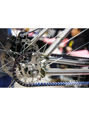 Check out the barely noticeable split in the seat stay