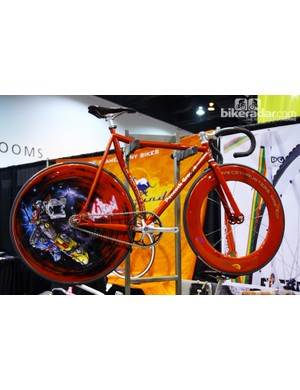 Peacock Groove drew quite the crowd with its Voltron-inspired track bike