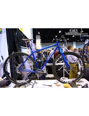 Peacock Groove also showed off this beautiful steel 29er