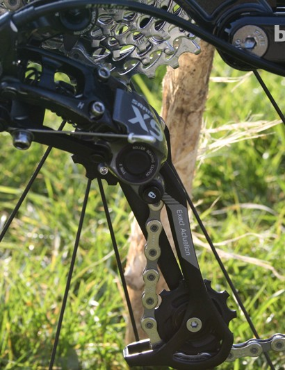 X9 Type 2 rear mech should help keep things tight