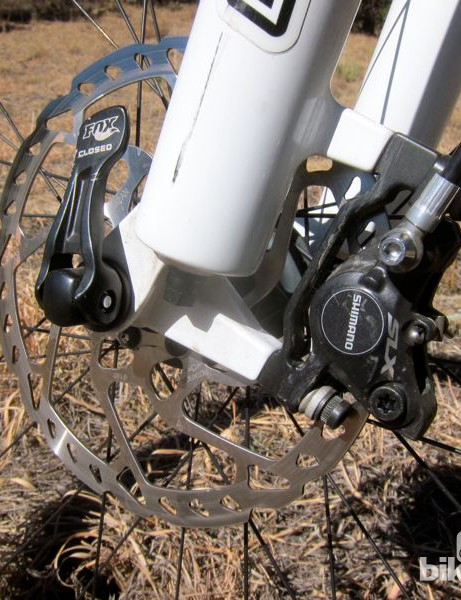 Shimano SLX brakes worked flawlessly on the Genius
