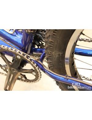 Custom yoke designed to clear Surly Knard tires