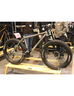 Form had this Lefty-equipped fat bike on display