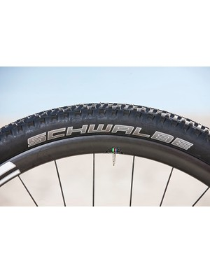 Schwalbe Racing Ralph 2.1 tires are on his Scalpel at the moment, though he will probably race 2.25s for the Cape Epic