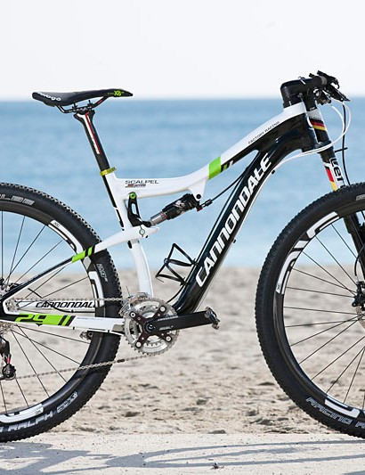 Manuel Fumic's Cannondale Scalpel 29er for the Cape Epic. Fumic will only race this bike for the stage race. He races an F29er at all World Cups and other cross-country events