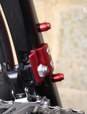 The anodised bolts and front mech mount are nice touches