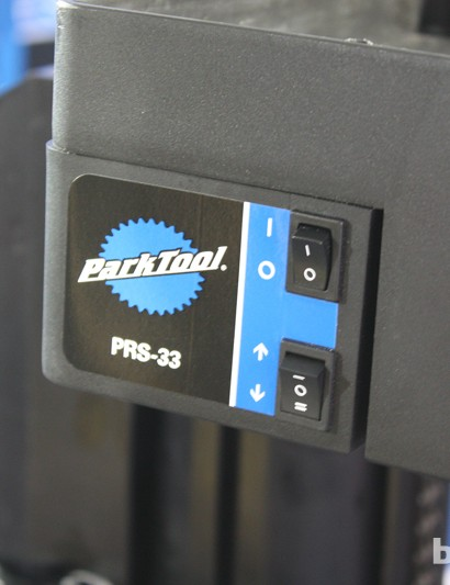 Park Tool PRS-33 Power Lift workshop stand control panel