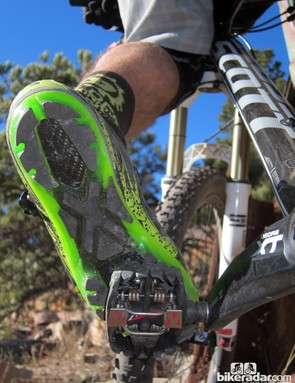 Even at the lower, 13-degree cleat setting, our US tester often had to angle his feet more than was comfortable to be able to release the pedals