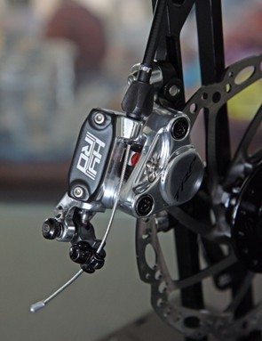 TRP says the HY/RD's cable pull ratio should work with all Shimano, SRAM, and Campagnolo-standard levers although we still expect the power and feel to vary a bit depending on the combination.
