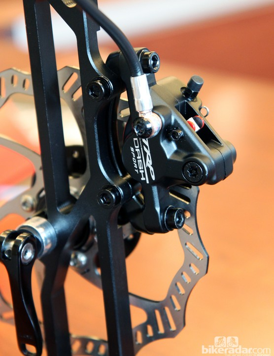 Coming in at just US$160 per wheel is the new TRP Dash Sport two-piston hydraulic mountain bike disc brake.