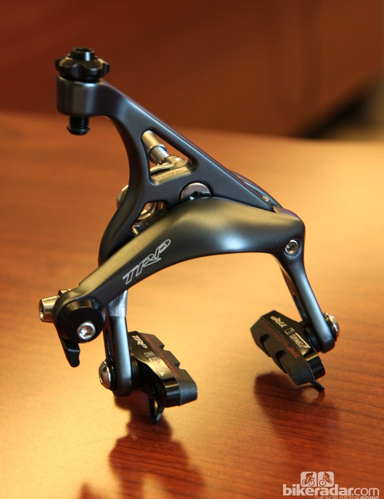 Coming in '14 from TRP is the new RG597 road caliper with up to 57mm of reach for use with large-volume tires.