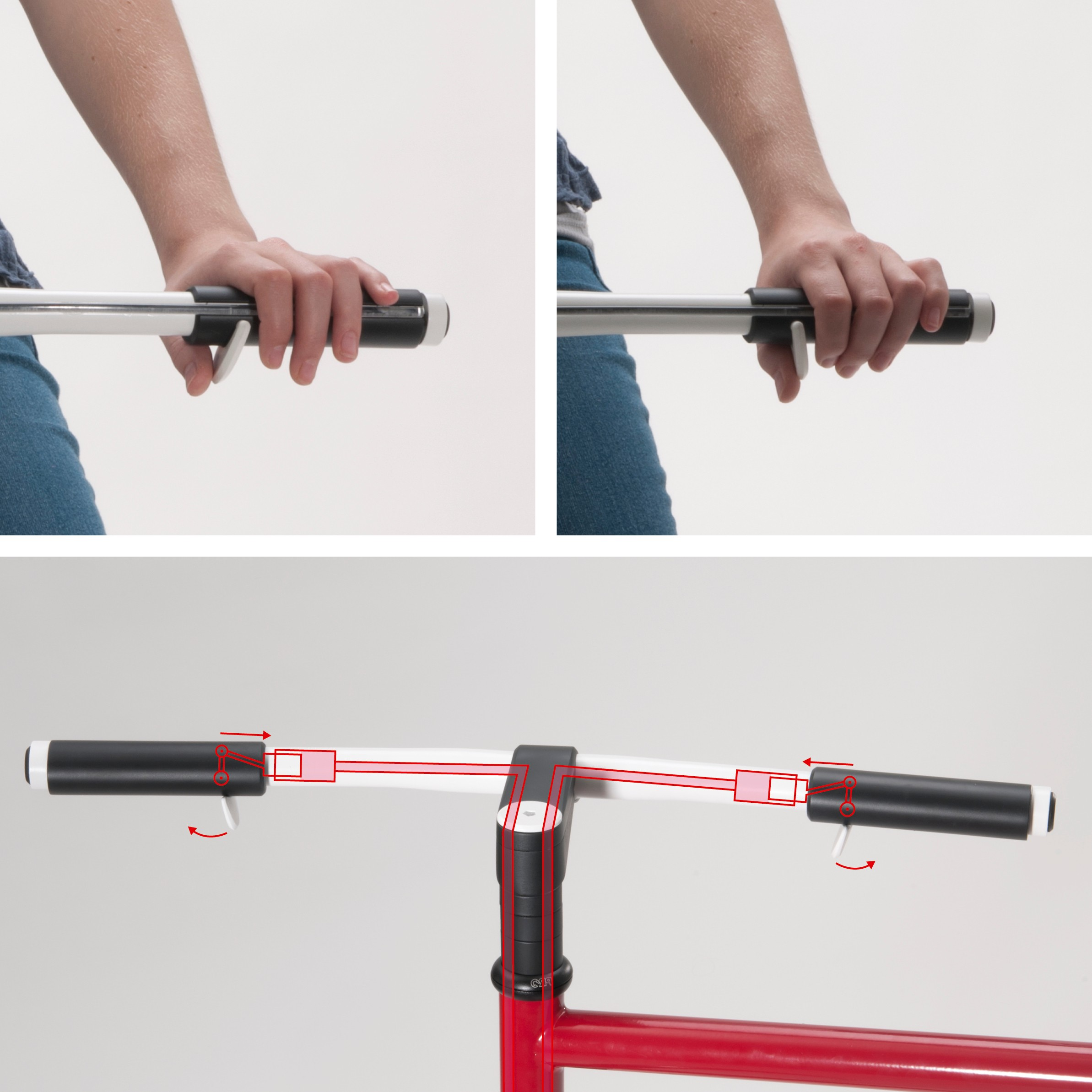 Penta's thumb-operated brakes could be used on folding bikes