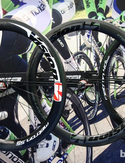 Vision has added two new Metron 55 carbon road wheelsets, too: a tubular and a full carbon clincher