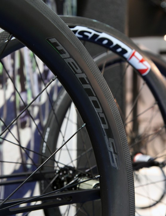 Vision uses easily serviceable external nipples on the new Metron road wheelsets