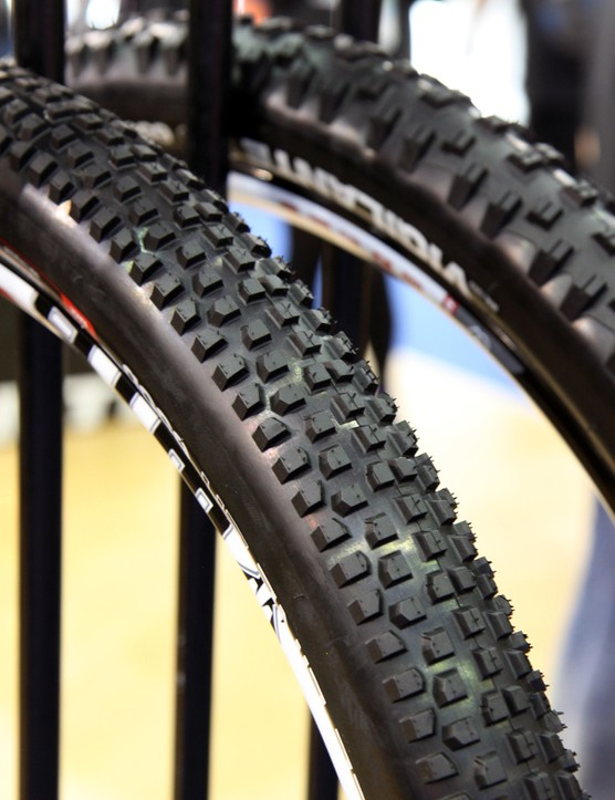 The new WTB Beeline 2.2 will only be available in a 650b/27.5 diameter. The tightly spaced tread is similar to the fast-rolling Nineline.
