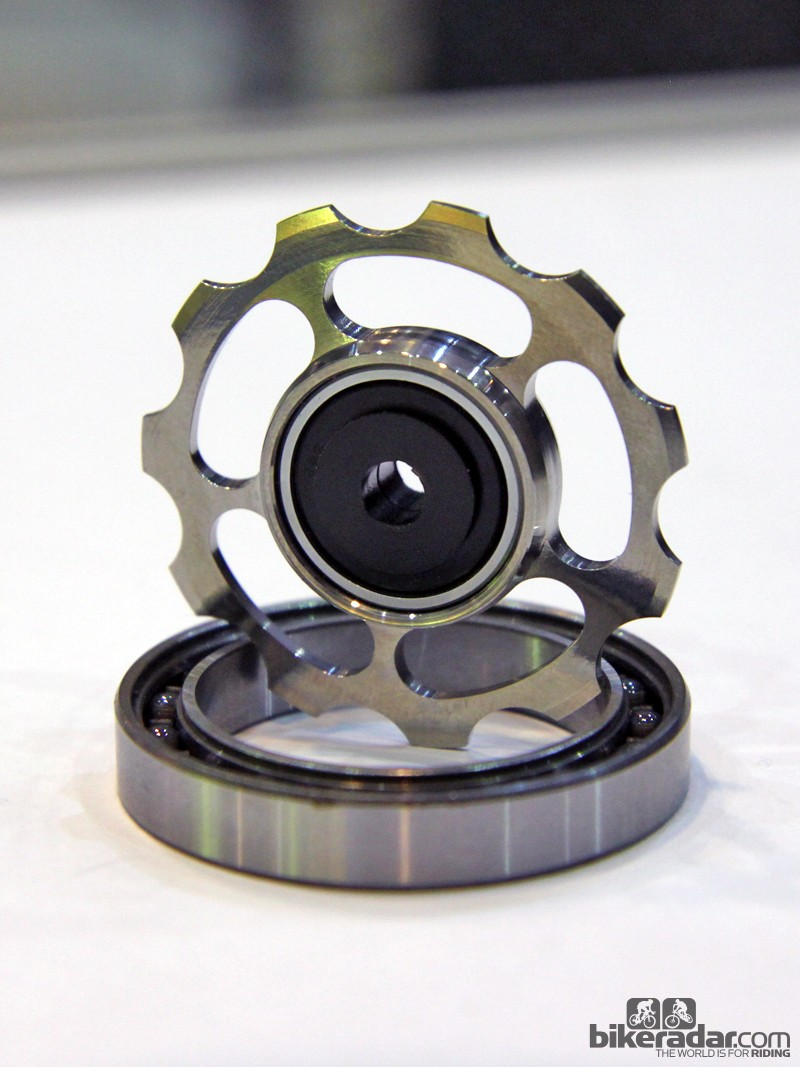 CeramicSpeed's new titanium derailleur pulleys with hybrid ceramic cartridge bearings are beautiful and have super-low friction - but they're also incredibly expensive at €350 per pair