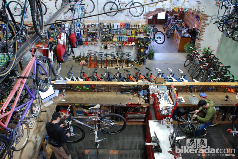 The service area is the heart of this small shop