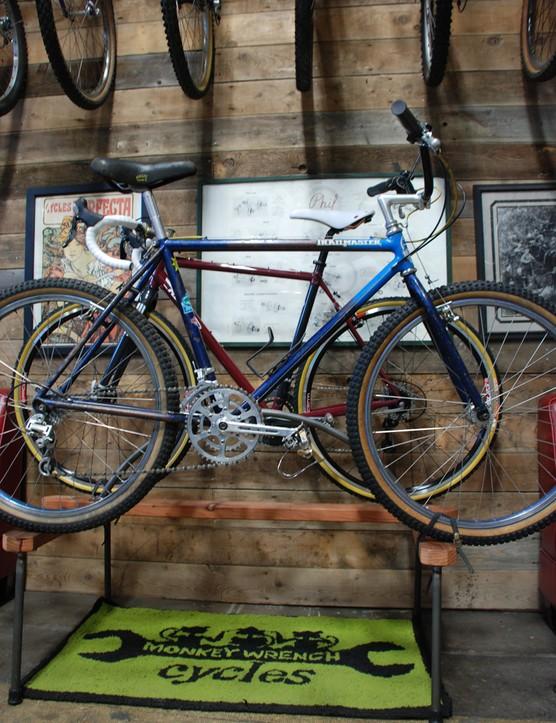 One of 47 vintage custom mountan bikes on display