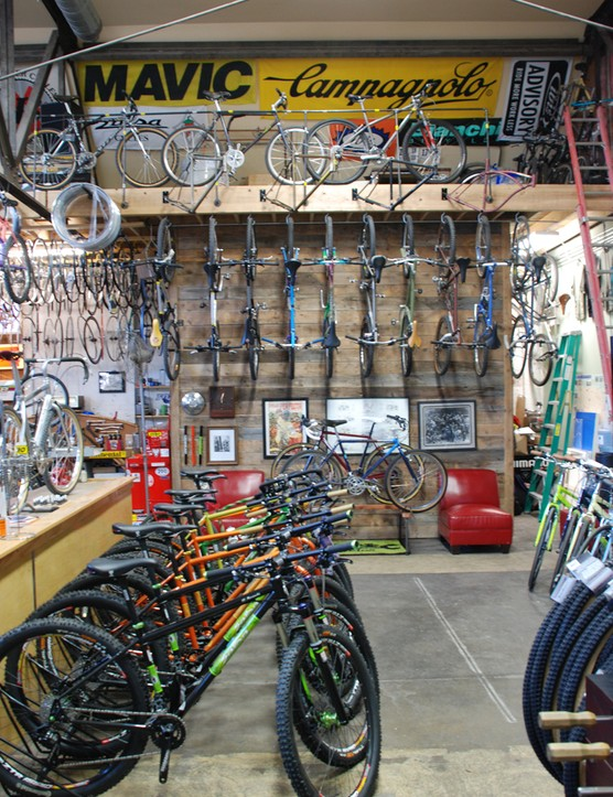 It's not all old-school here, Monkey Wrench also carries new bikes from Salsa, among other brands
