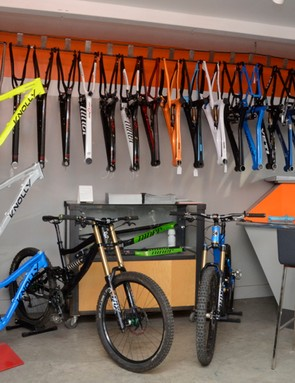 Ibis, Intense, Moots, Niner and Yeti are just a few of the mountain brands