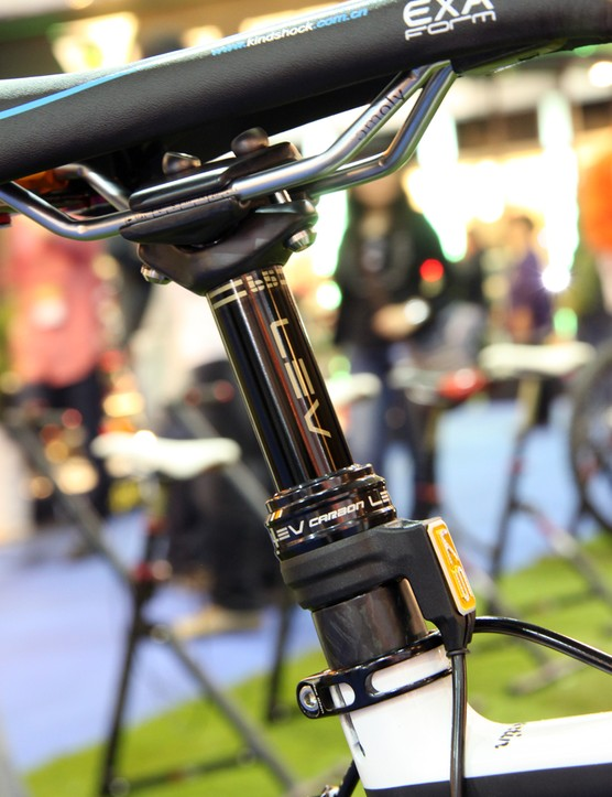 KS Suspension previewed a new ultralight LEV Carbon model at the Taipei Cycle Show