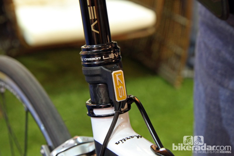 As with KS' standard LEV seatpost, the cable will be mounted to a fixed location on the new LEV Carbon