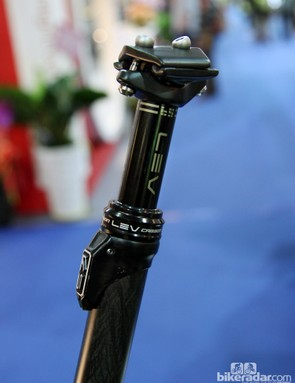 The production KS LEV Carbon seatpost will use a more refined cable anchor housing, similar to this one
