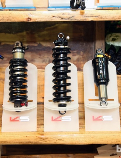 In addition to dropper seatposts, KS also produces a range of rear shocks