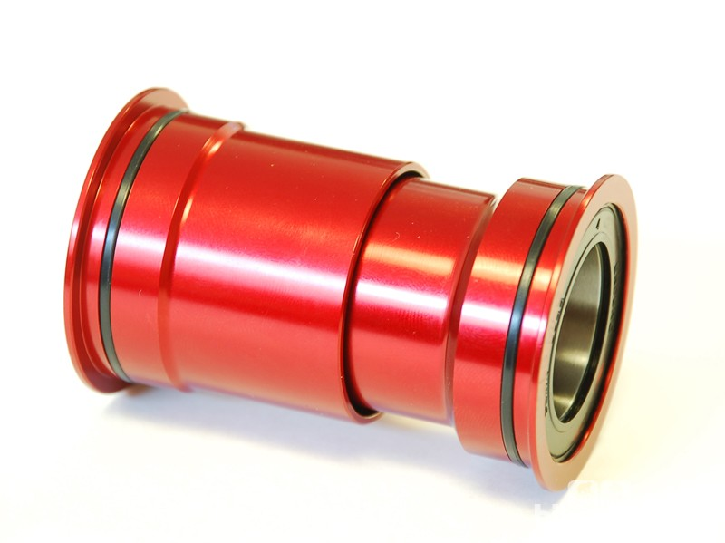 Wheels Manufacturing PressFit 30 bottom brackets use an aluminum shell and are available with standard, angular or ceramic bearings