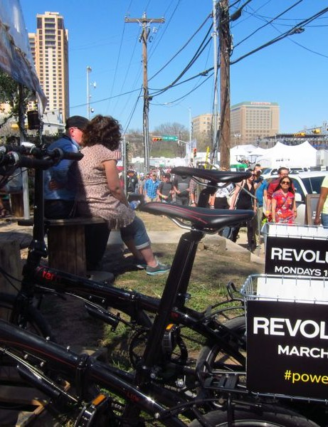Though Tern was in charge of the project, SXSW essentially rented out space on the bikes to create revenue