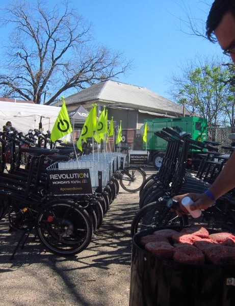 "Bikes, burgers, beer and beats - though there was a lot of work involved in and around the bike share program, the SX Cycles temporary ""shop"" vibe was classic Austin"