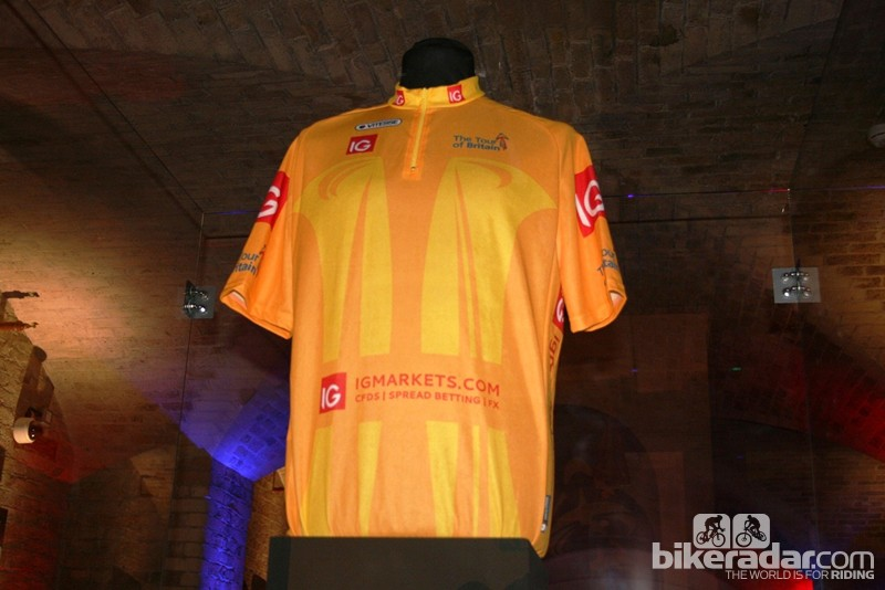 The Tour of Britain leader's jersey