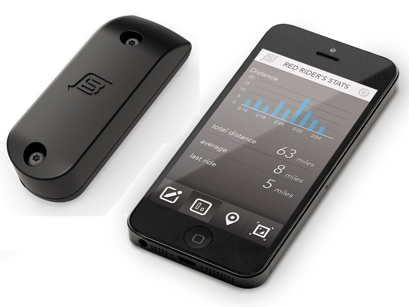Since it's a GPS unit, the BikeSpike could also be used with fitness apps