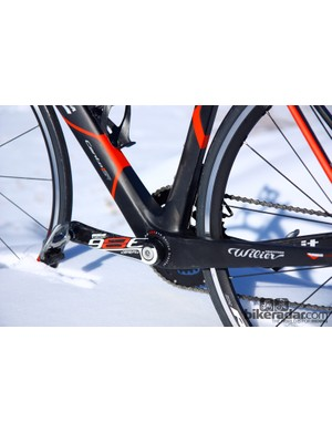 Wilier Triestina makes good use of the BB386 EVO bottom bracket's extra width and surface area